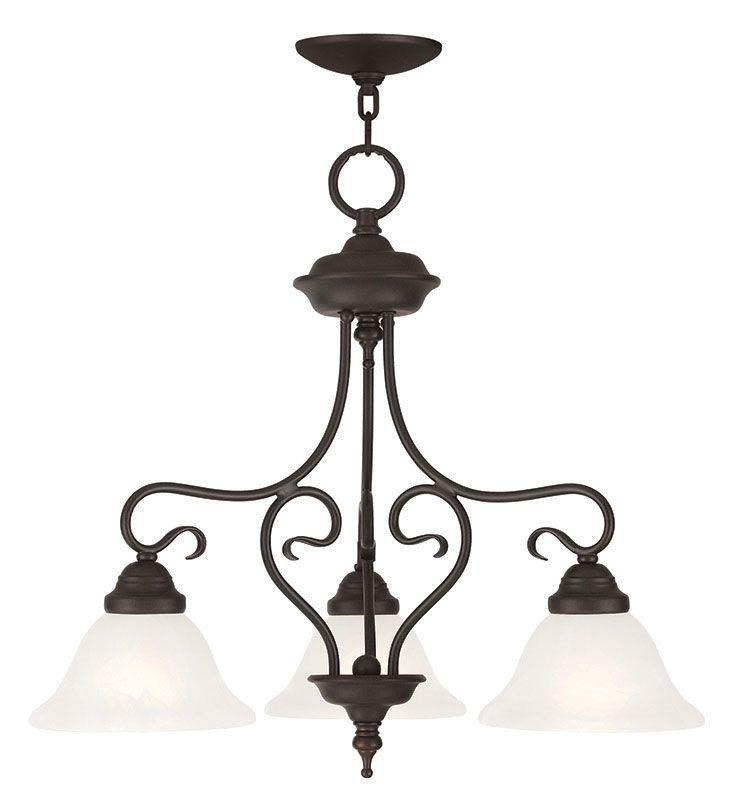 Livex Lighting 6133 Coronado 3 Light Semi-Flush Ceiling Fixture Bronze
