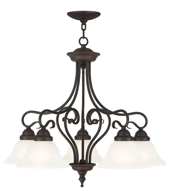 Livex Lighting 6135 Coronado 5 Light 1 Tier Chandelier Bronze Indoor