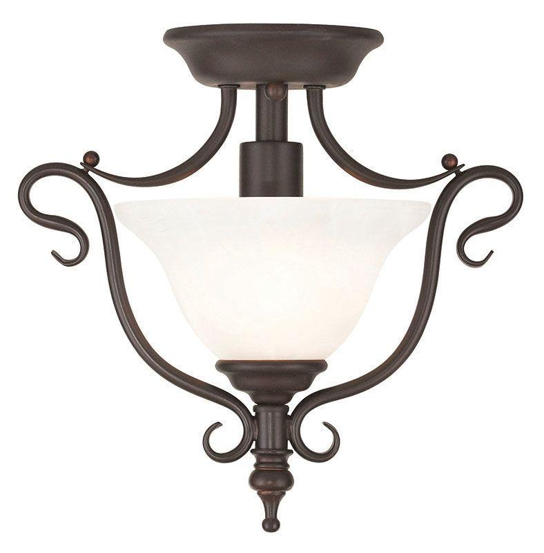 Livex Lighting 6186 Coronado 1 Light Semi-Flush Ceiling Fixture Bronze