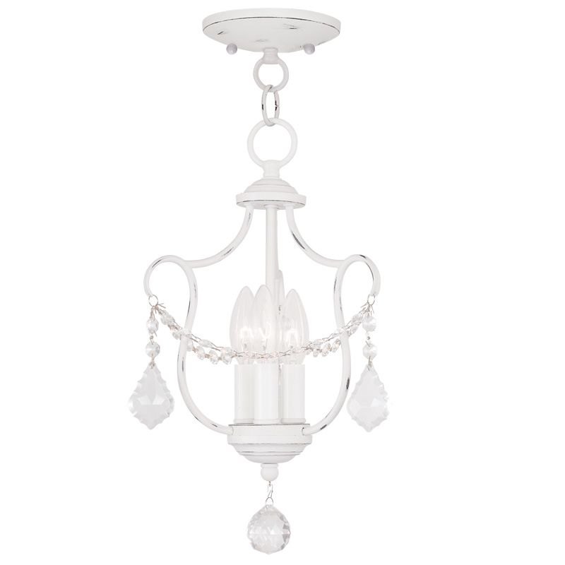 Livex Lighting 6420 Chesterfield 3 Light Pendant Antique White Indoor