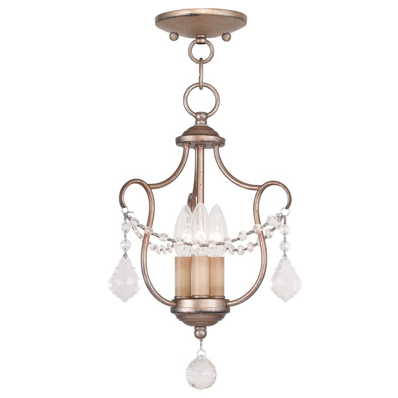 Livex Lighting 6420 Chesterfield 3 Light Pendant Antique Silver Leaf Sale $179.90 ITEM: bci2232842 ID#:6420-73 UPC: 847284036048 :