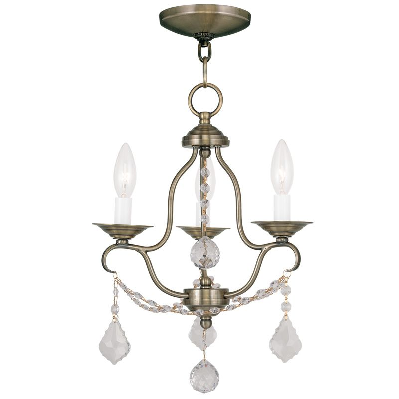 Livex Lighting 6423 Chesterfield 3 Light 1 Tier Chandelier with Sale $199.90 ITEM: bci2232850 ID#:6423-01 UPC: 847284034990 :