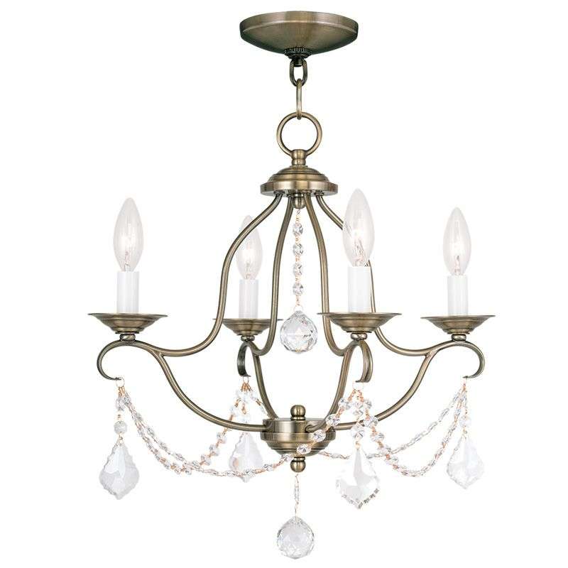 Livex Lighting 6424 Chesterfield 4 Light 1 Tier Chandelier with Sale $259.90 ITEM: bci2232856 ID#:6424-01 UPC: 847284035058 :