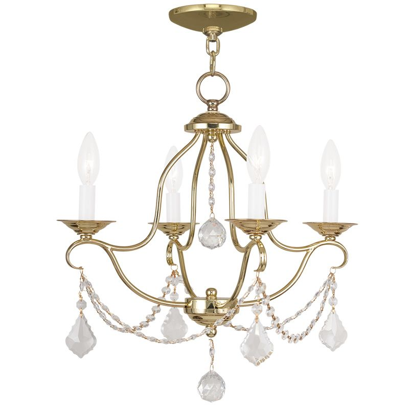 Livex Lighting 6424 Chesterfield 4 Light 1 Tier Chandelier with Sale $259.90 ITEM: bci2232857 ID#:6424-02 UPC: 847284035065 :