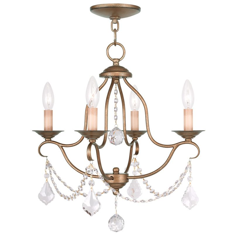 Livex Lighting 6424 Chesterfield 4 Light 1 Tier Chandelier with Sale $259.90 ITEM: bci2232858 ID#:6424-48 UPC: 847284035072 :