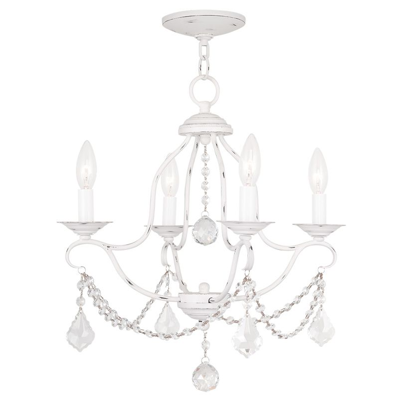 Livex Lighting 6424 Chesterfield 4 Light 1 Tier Chandelier with Sale $259.90 ITEM: bci2232859 ID#:6424-60 UPC: 847284035089 :