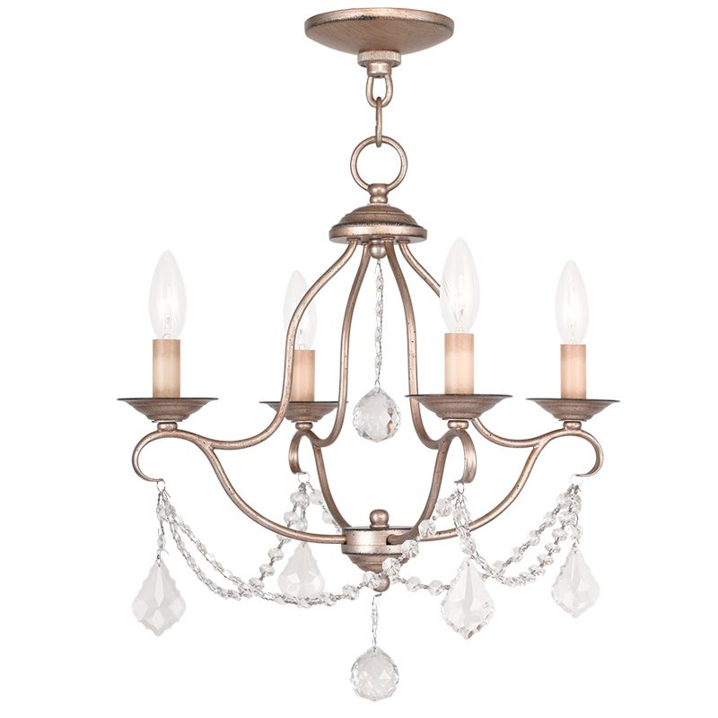 Livex Lighting 6424 Chesterfield 4 Light 1 Tier Chandelier with Sale $259.90 ITEM: bci2232860 ID#:6424-73 UPC: 847284035096 :