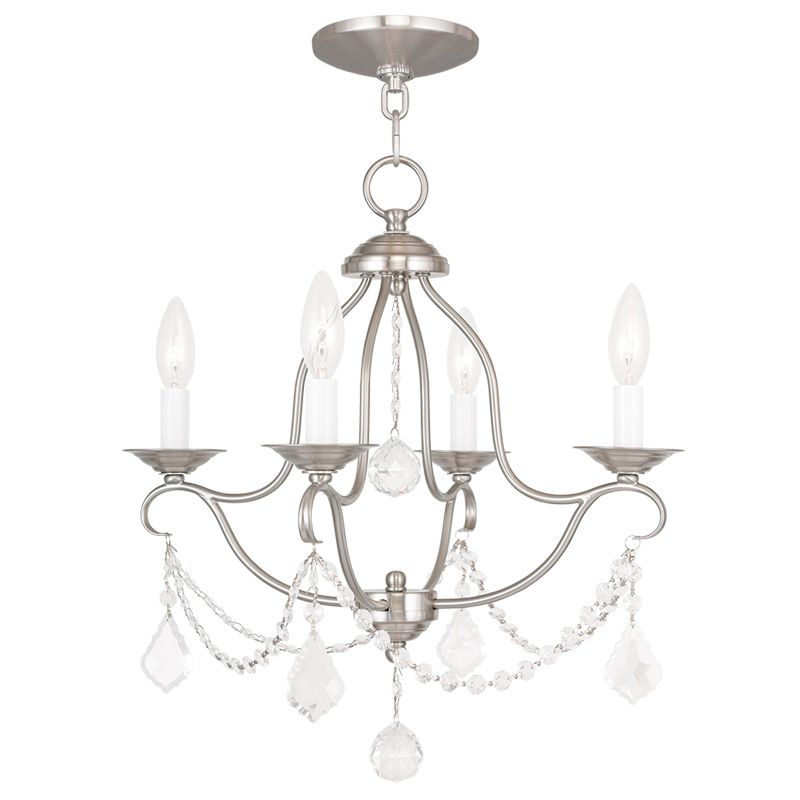 Livex Lighting 6424 Chesterfield 4 Light 1 Tier Chandelier with Sale $259.90 ITEM: bci2232861 ID#:6424-91 UPC: 847284035102 :