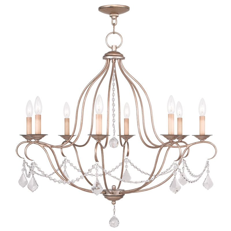 Livex Lighting 6428 Chesterfield 8 Light 1 Tier Chandelier with