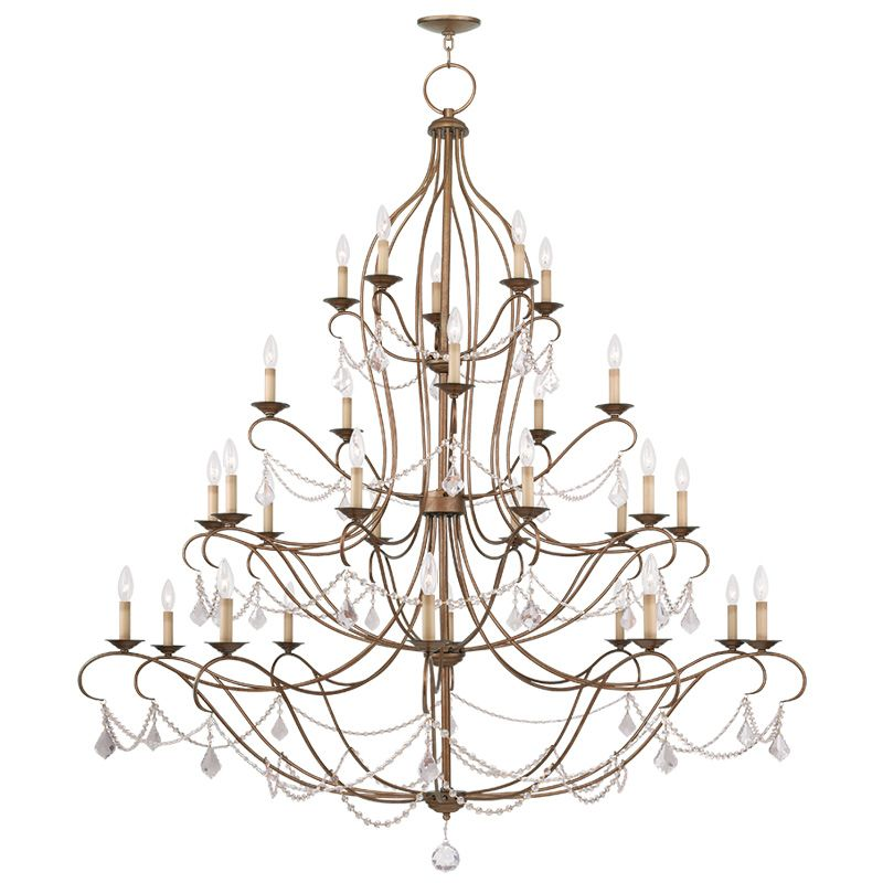 Livex Lighting 6459 Chesterfield 30 Light 4 Tier Chandelier with Sale $3999.90 ITEM: bci2232904 ID#:6459-48 UPC: 847284035553 :