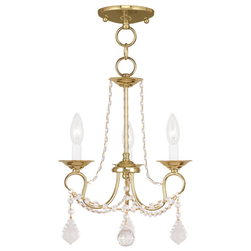 Livex Lighting 6513 Pennington 3 Light Pendant with Crystal Accents