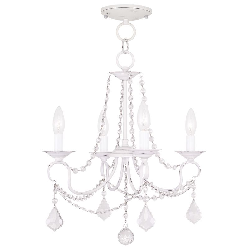 Livex Lighting 6514 Pennington 4 Light Pendant with Crystal Accents