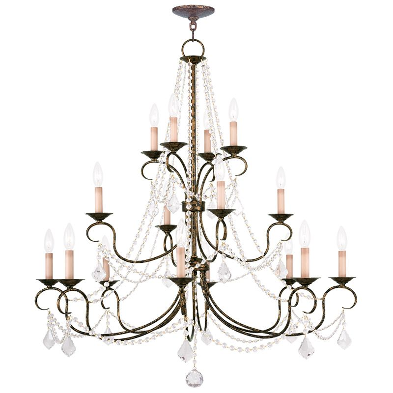 Livex Lighting 6520 Pennington 16 Light 3 Tier Chandelier with Crystal Sale $999.90 ITEM: bci2232929 ID#:6520-71 UPC: 847284035706 :