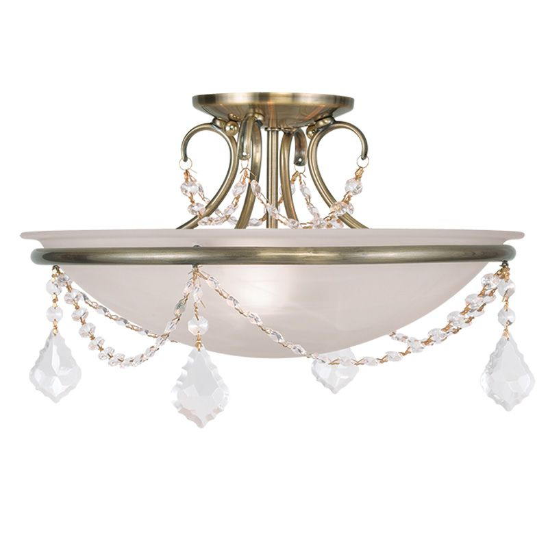 Livex Lighting 6524 Chesterfield/Pennington 3 Light Semi-Flush Ceiling Sale $199.90 ITEM: bci2232935 ID#:6524-01 UPC: 847284035607 :