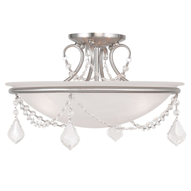 Livex Lighting 6524 Chesterfield/Pennington 3 Light Semi-Flush Ceiling Sale $199.90 ITEM: bci2232938 ID#:6524-91 UPC: 847284035638 :