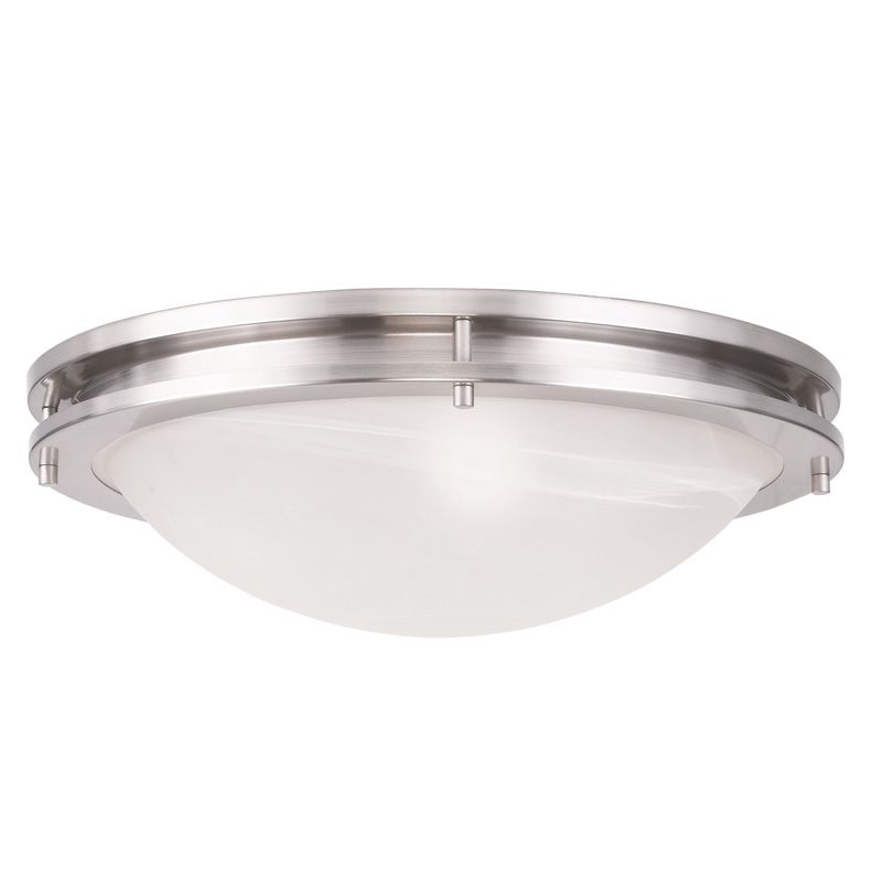 Livex Lighting 7059 Ariel 3 Light Flush Mount Ceiling Fixture Brushed
