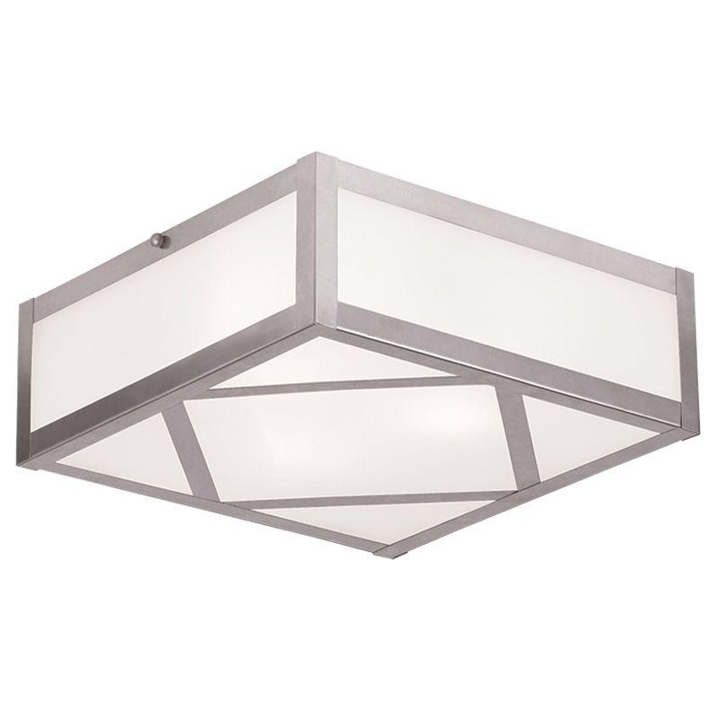 Livex Lighting 7133 Viper 3 Light Flush Mount Ceiling Fixture Brushed