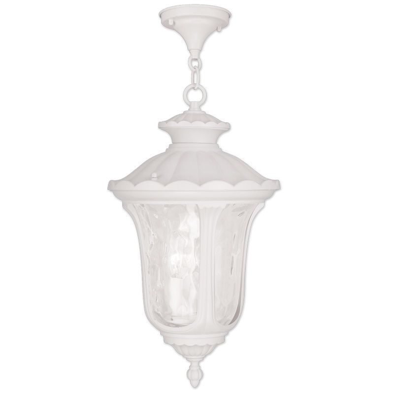 Livex Lighting 7858 Oxford 3 Light Outdoor Pendant White Outdoor
