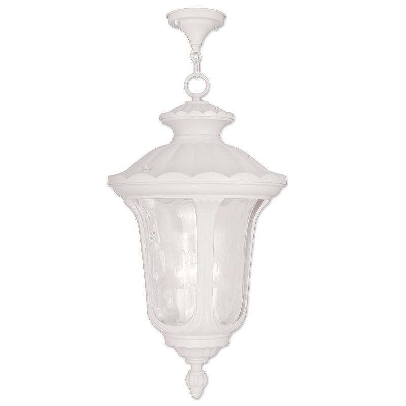 Livex Lighting 7865 Oxford 3 Light Outdoor Pendant White Outdoor