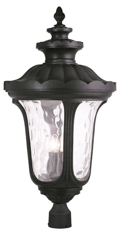 Livex Lighting 78702 Oxford 4 Light Lantern Outdoor Post Light Black