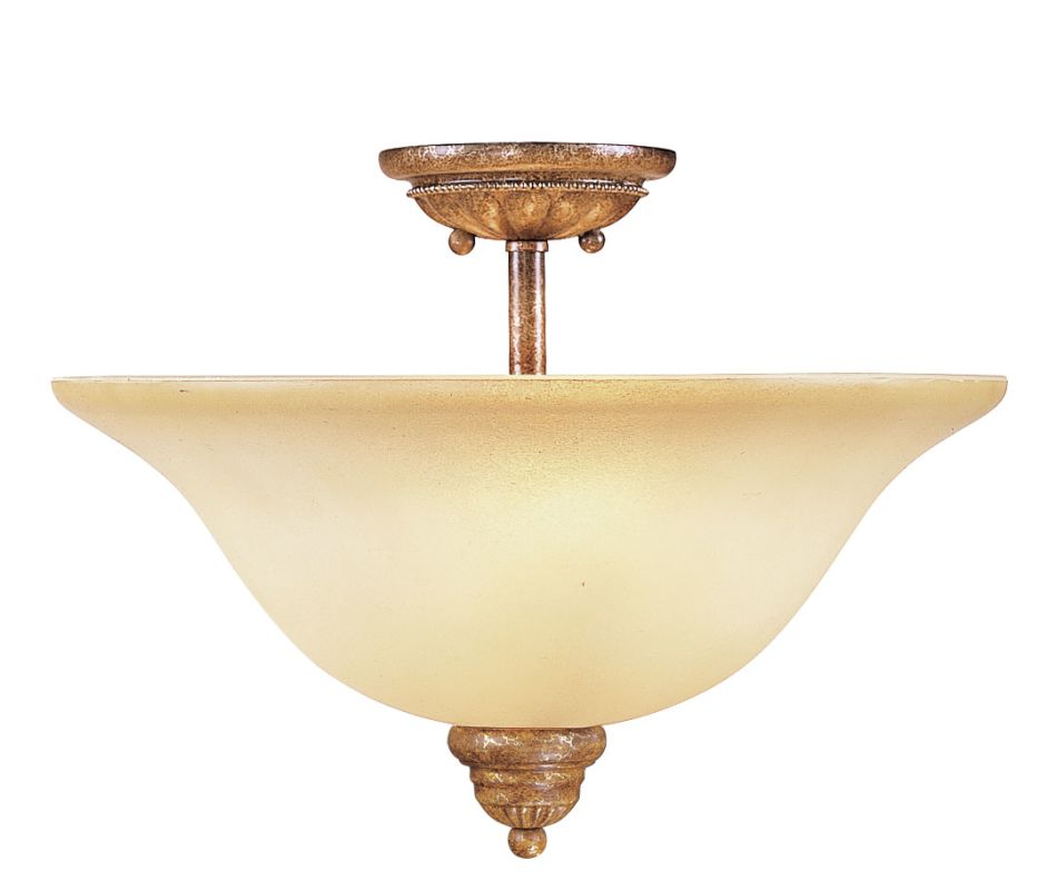 Livex Lighting 8309 Bistro 2 Light Semi-Flush Ceiling Fixture Venetian