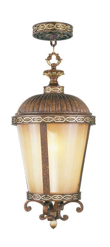 Livex Lighting 8637 Seville 1 Light Outdoor Pendant Palacial Bronze Sale $699.96 ITEM: bci2307374 ID#:8637-64 UPC: 847284022355 :