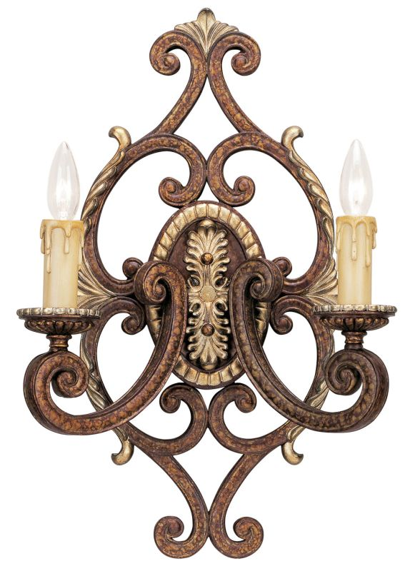 Livex Lighting 8862 Seville 2 Light Wall Sconce Palacial Bronze Indoor