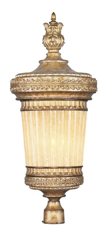 Livex Lighting 8907 La Bella 1 Light Outdoor Post Light Vintage Gold Sale $699.96 ITEM: bci2307397 ID#:8907-65 UPC: 847284023024 :