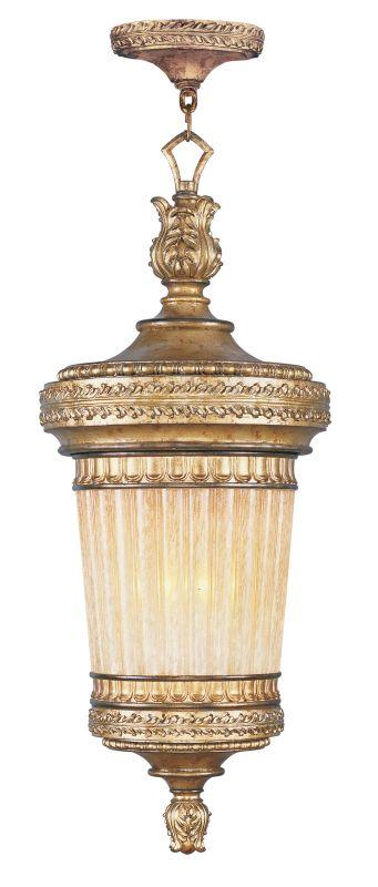 Livex Lighting 8908 La Bella 1 Light Outdoor Pendant Vintage Gold Leaf
