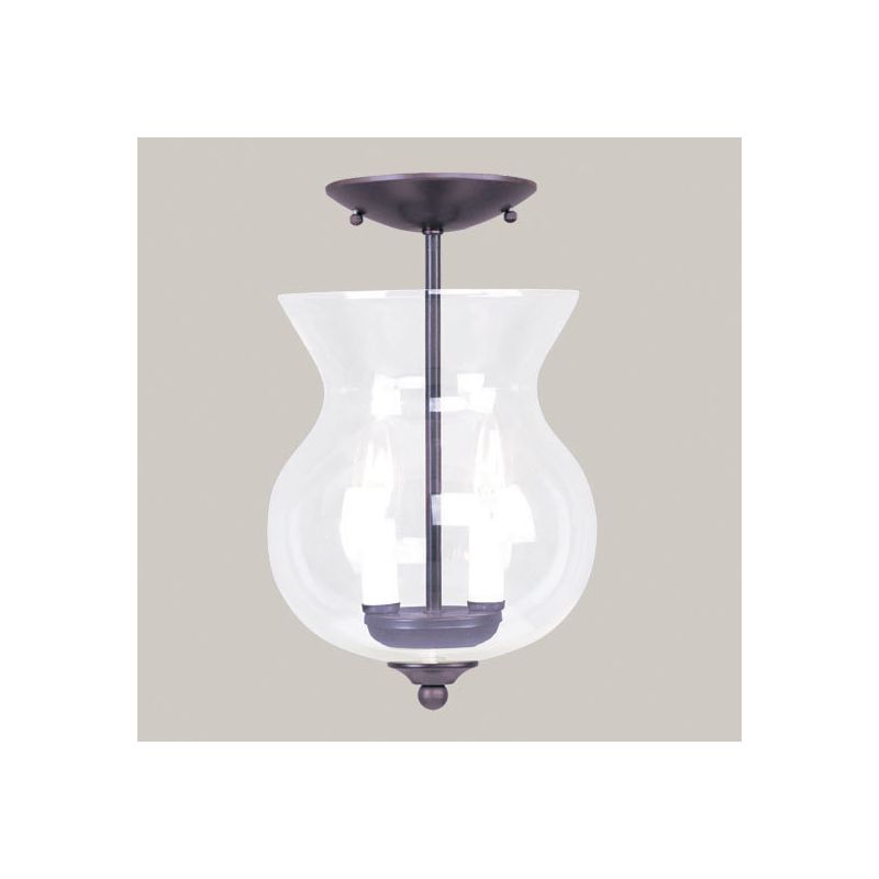 "Livex Lighting 4393 Home Basics 2 Light Semi-Flush Ceiling Fixture Sale $99.90 ITEM: bci1944465 ID#:4393-07 UPC: 847284015968 Product Features: Finish: Antique Brass , Light Direction: Up Lighting , Height: 12.5"" , Genre: Traditional , Number of Bulbs: 2 , Fully covered under Livex Lighting warranty , Location Rating: Indoor Use :"