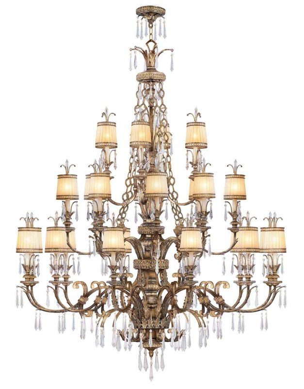 Livex Lighting 8910-65 24 Light 1440W Chandelier with Candelabra Bulb