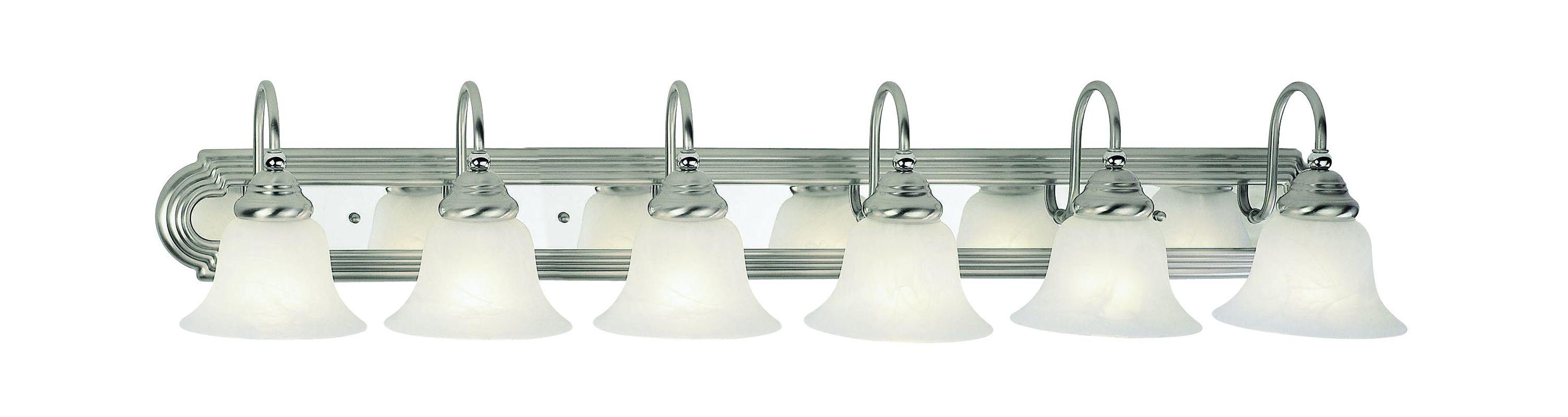 Livex Lighting 1006 Belmont 6 Light Vanity Light Brushed Nickel /