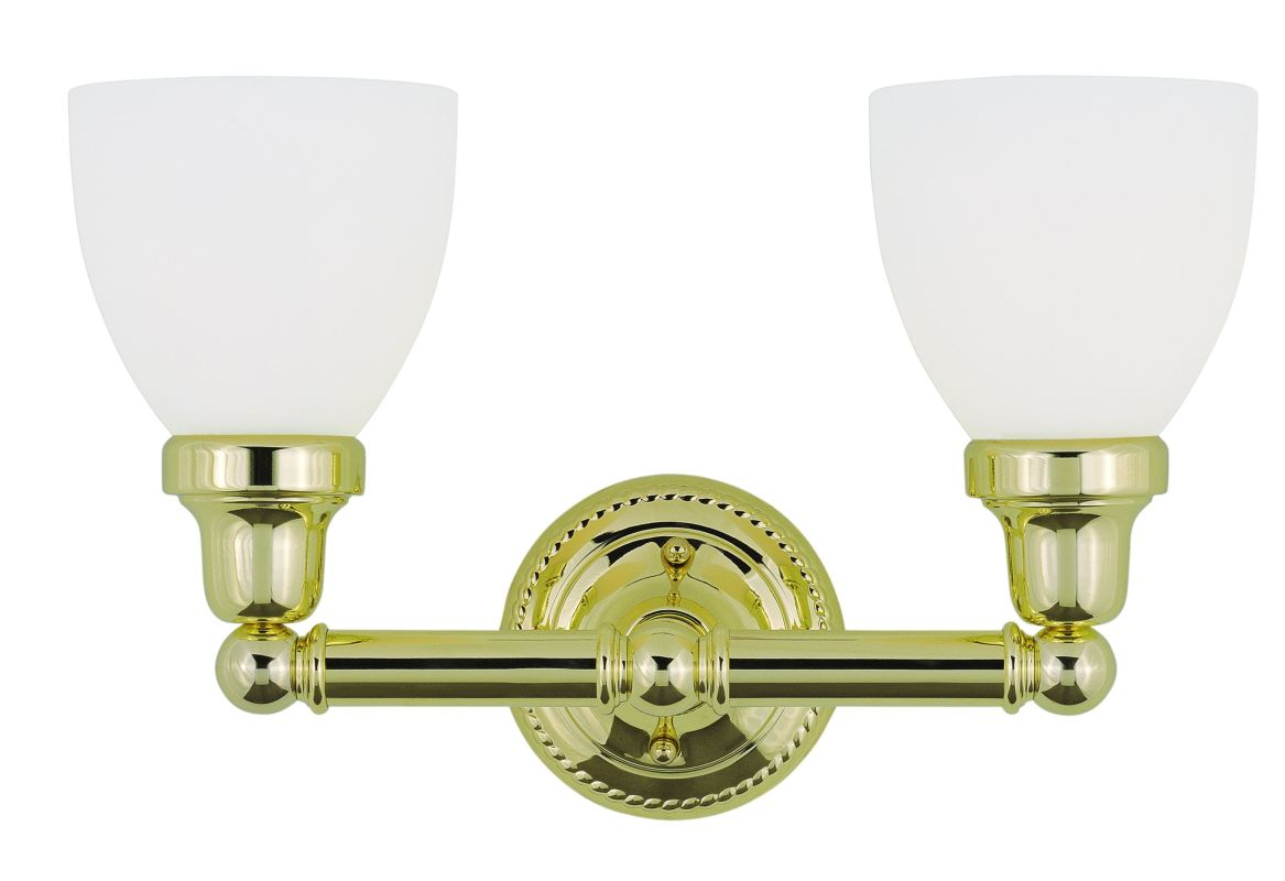 Livex Lighting 1022 Classic 2 Light Bathroom Vanity Light Polished