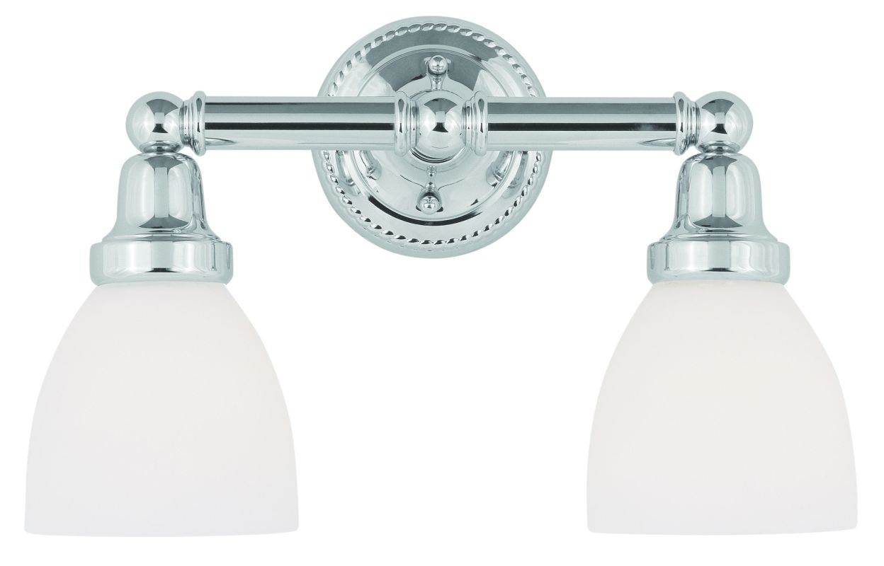 Livex Lighting 1022 Classic 2 Light Bathroom Vanity Light Chrome
