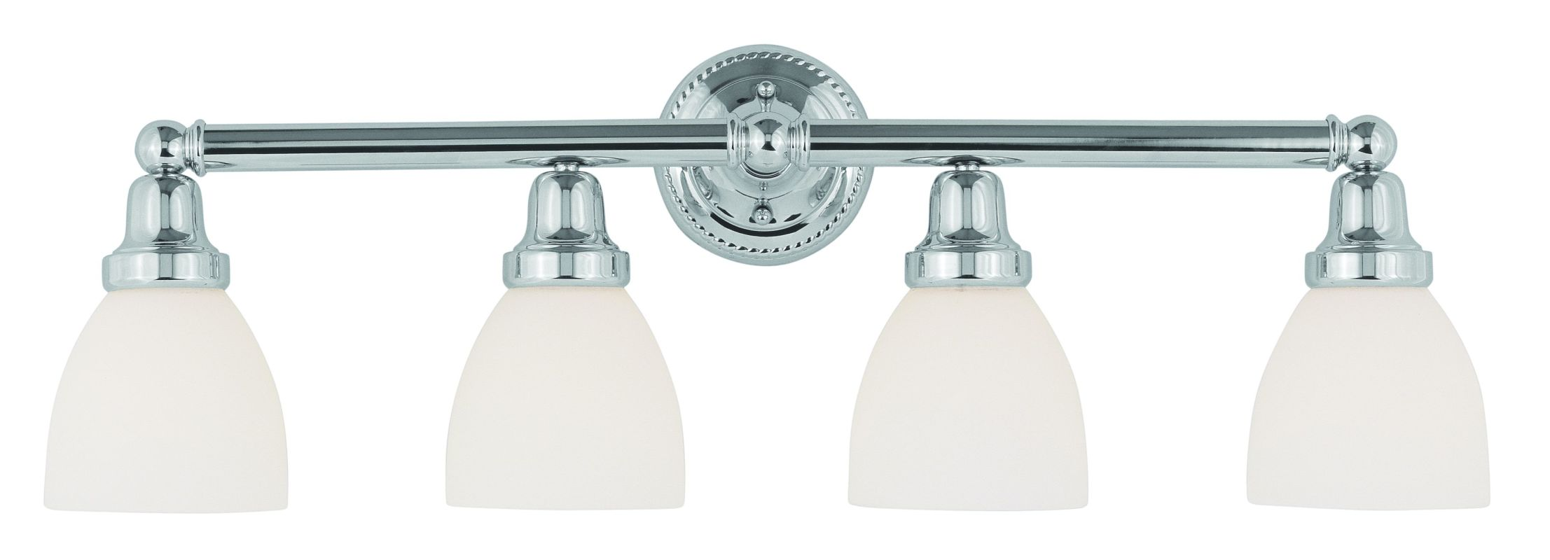 Livex Lighting 1024 Classic 4 Light Bathroom Vanity Light Chrome