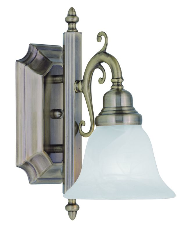Livex Lighting 1281 French Regency 1 Light Bathroom Sconce Antique