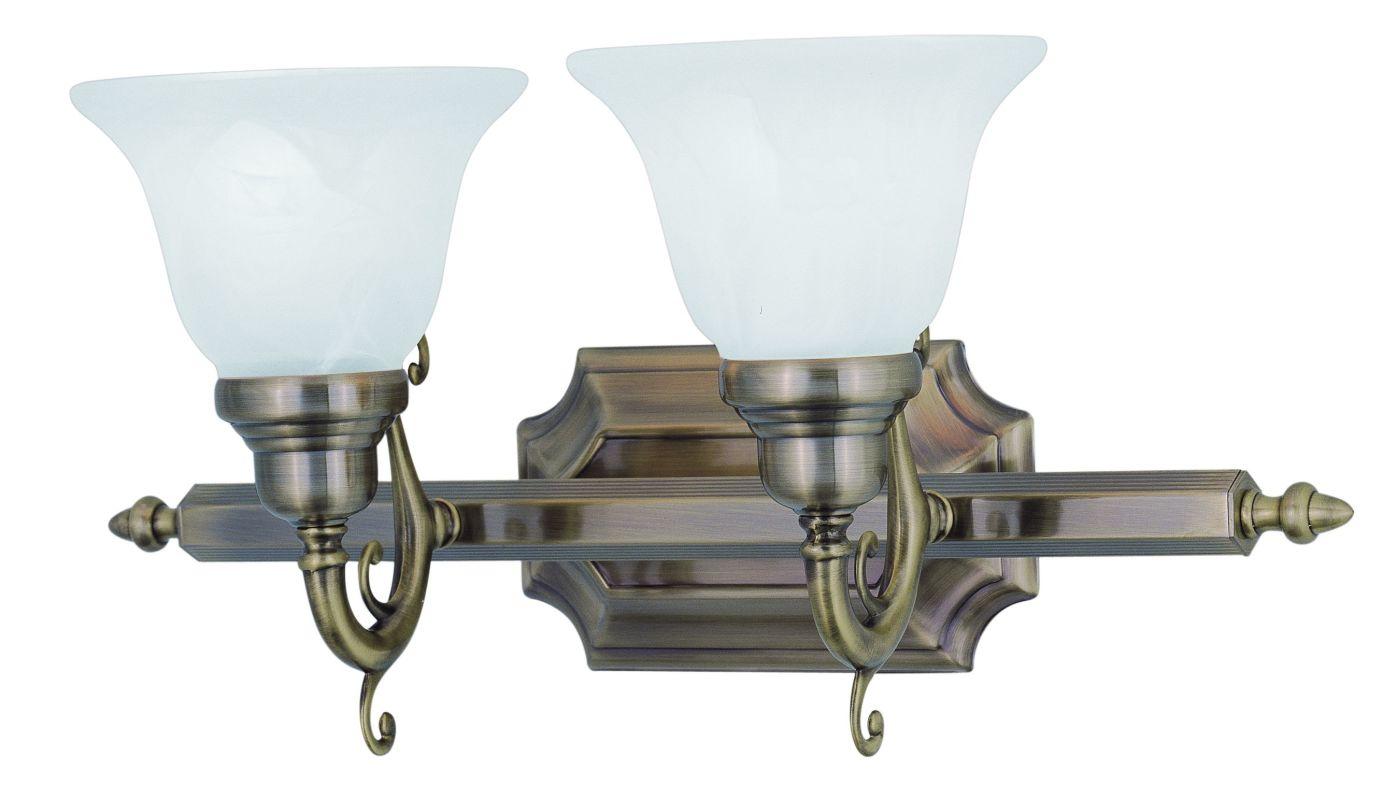 Livex Lighting 1282 French Regency 2 Light Bathroom Vanity Light