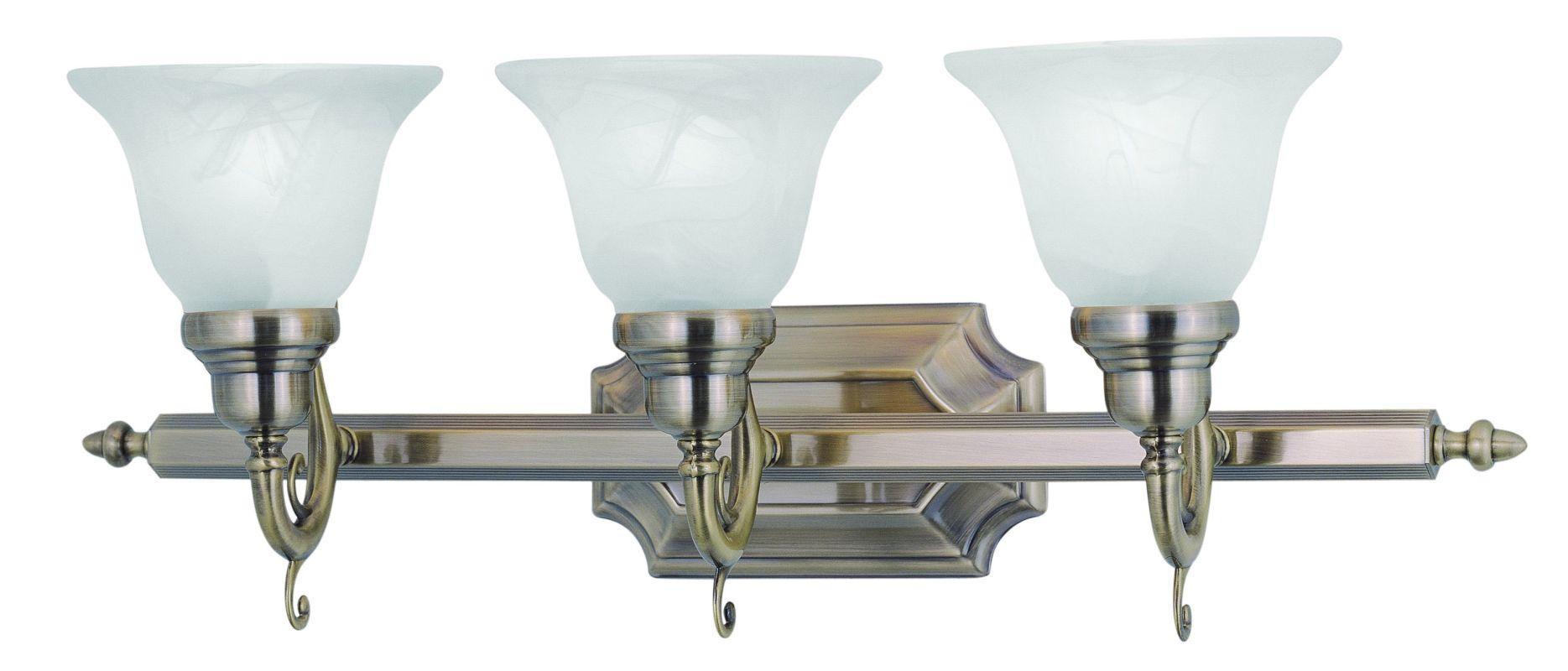 Livex Lighting 1283 French Regency 3 Light Bathroom Vanity Light Sale $215.91 ITEM: bci1791312 ID#:1283-01 UPC: 847284003408 :