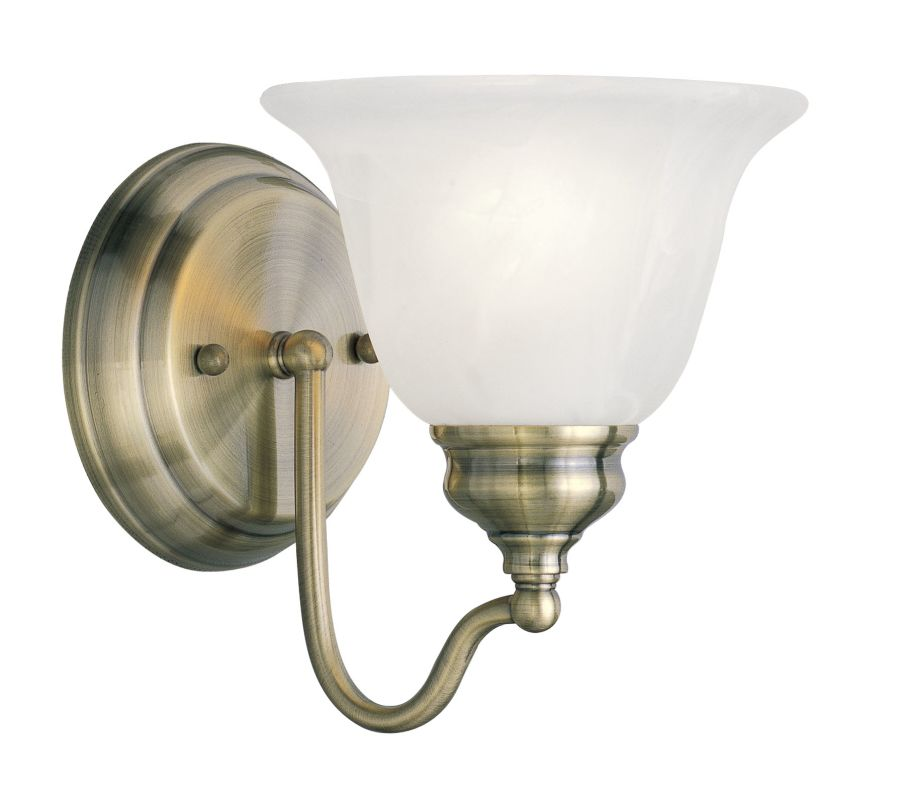 Livex Lighting 1351 Essex Bathroom Wall Sconce with 1 Light Antique