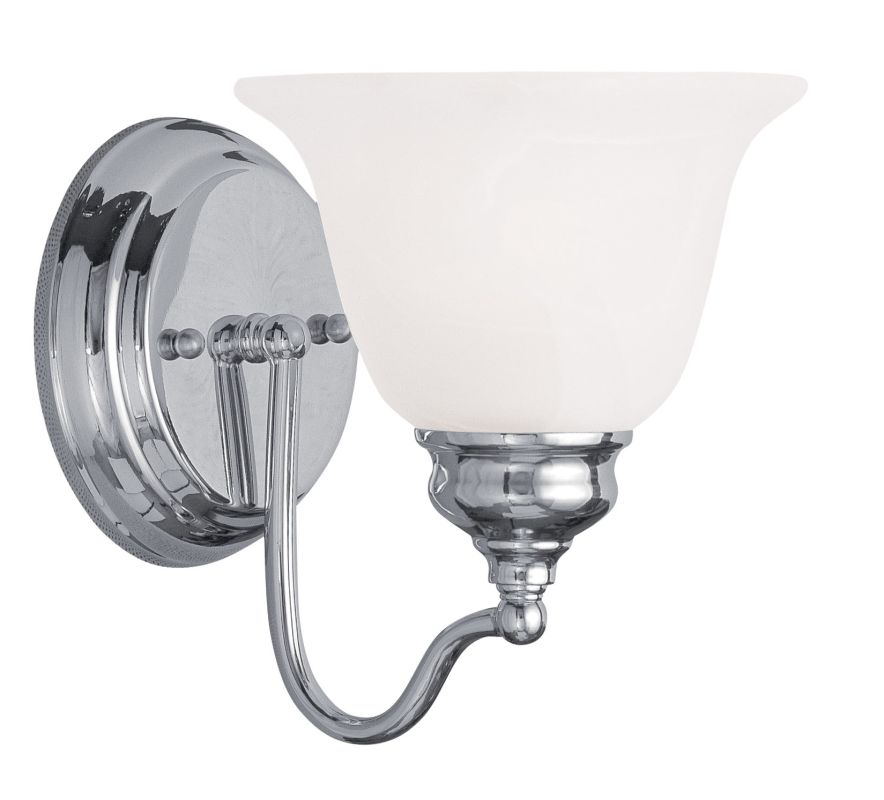 Livex Lighting 1351 Essex Bathroom Wall Sconce with 1 Light Chrome