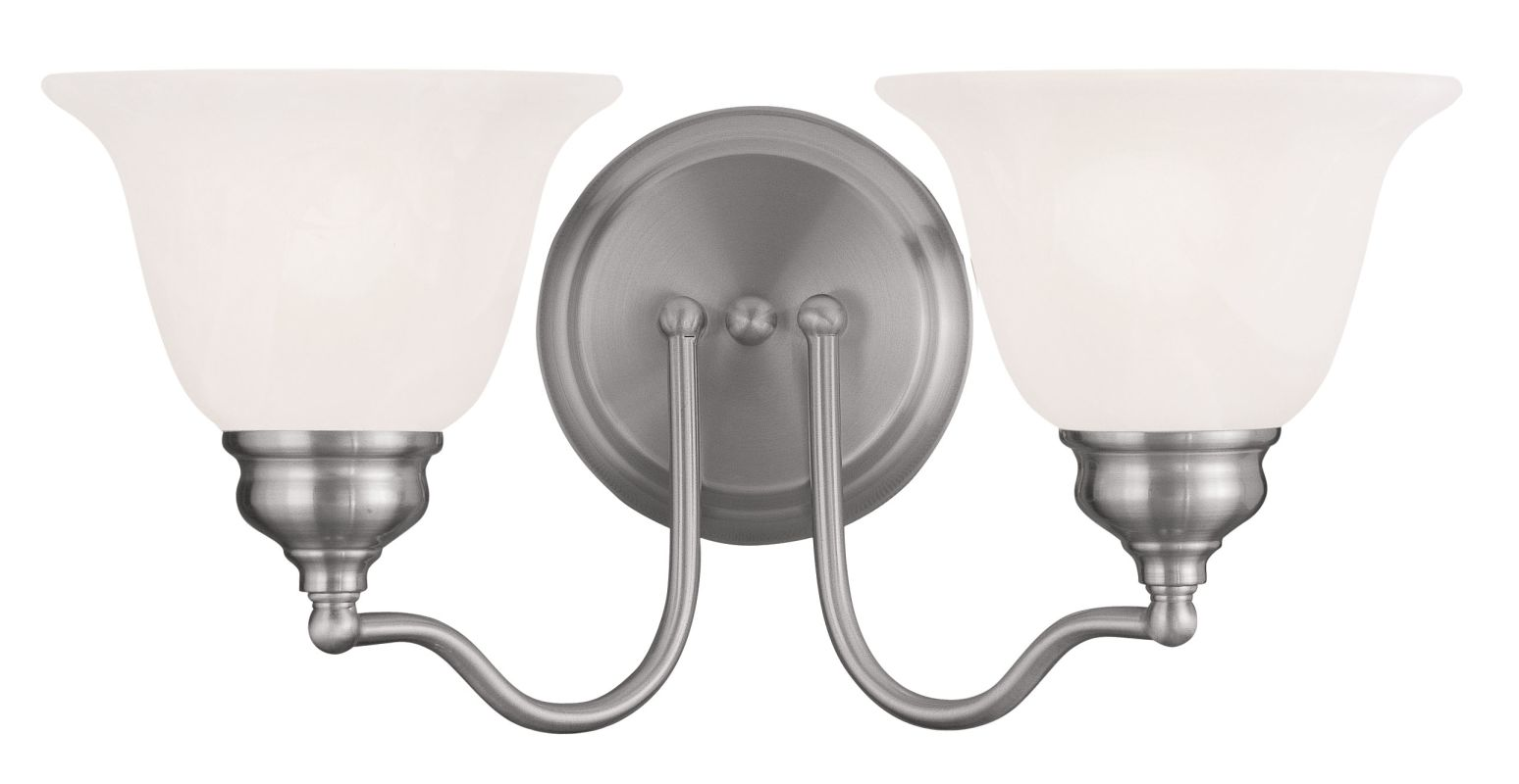 Livex Lighting 1352 Essex Bathroom Vanity Bar with 2 Lights Brushed
