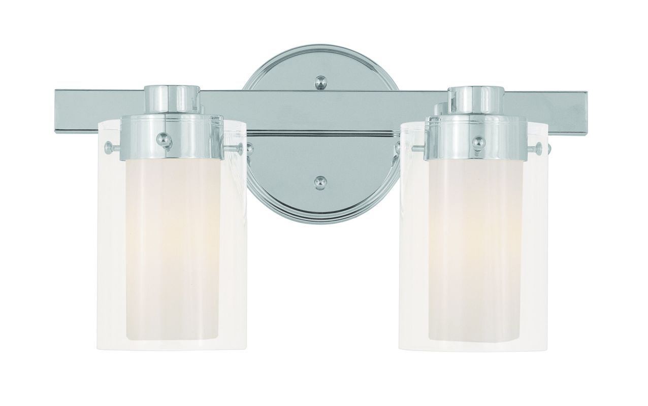 "Livex Lighting 1542 2 Light 120 Watt 14.5"" Wide Bathroom Fixture with"