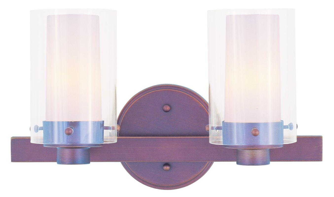 Livex 2 Light Bathroom Vanity Lighting Fixture Brushed: Livex Lighting 1542-70 Vintage Bronze 2 Light 120 Watt 14