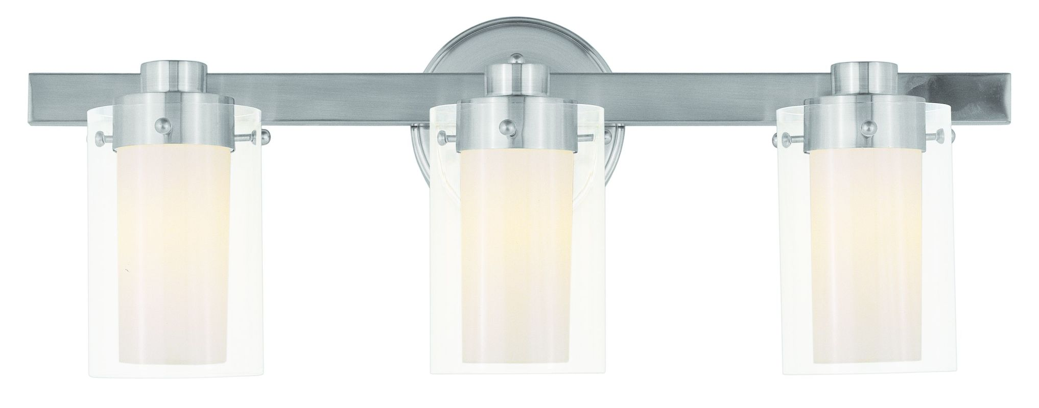 "Livex Lighting 1543 3 Light 180 Watt 22.5"" Wide Bathroom Fixture with"