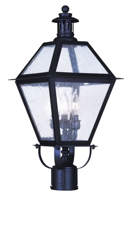 "Livex Lighting 2045 3 Light 180 Watt 10.5"" Wide Outdoor Post Light"