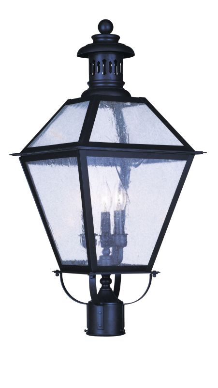 "Livex Lighting 2048 3 Light 180 Watt 12.5"" Wide Outdoor Post Light"