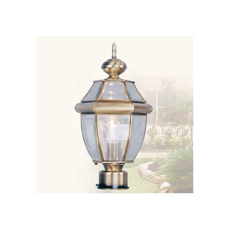 Livex Lighting 2153 Monterey 1 Light Outdoor Post Light Antique Brass