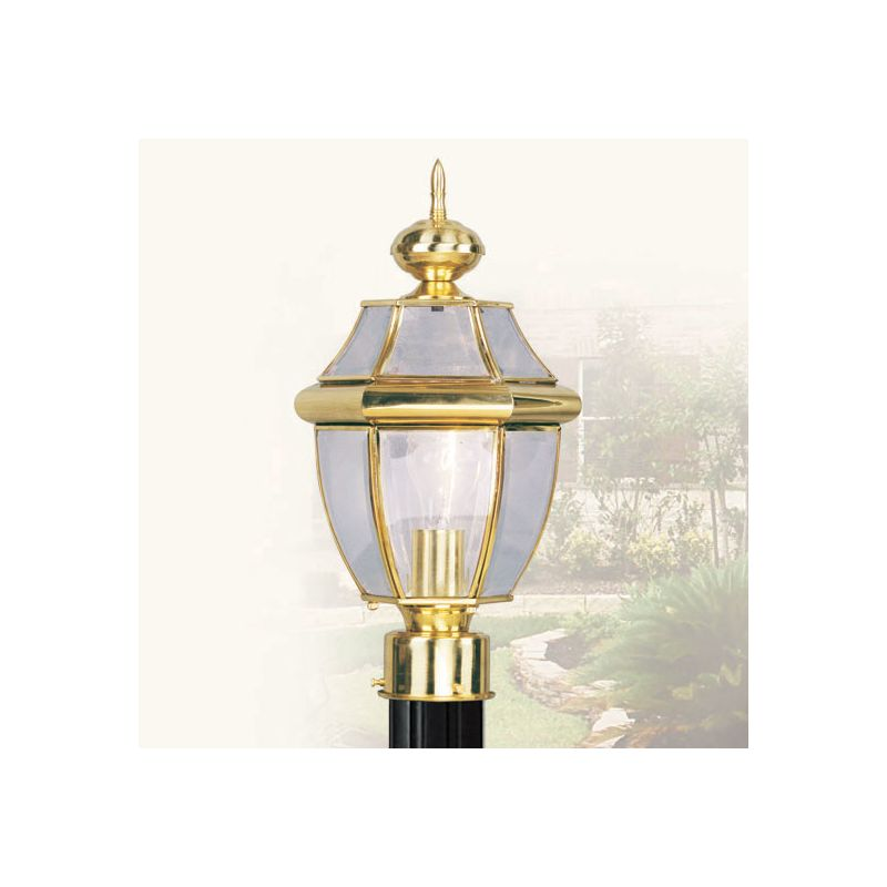 Livex Lighting 2153 Monterey 1 Light Outdoor Post Light Polished Brass