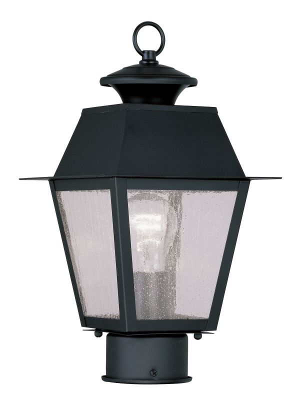 Livex Lighting 2163 Mansfield Post Light with 1 Light Black Outdoor Sale $159.90 ITEM: bci2069179 ID#:2163-04 UPC: 847284027404 :