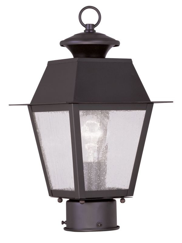 Livex Lighting 2163 Mansfield Post Light with 1 Light Bronze Outdoor Sale $159.90 ITEM: bci2069180 ID#:2163-07 UPC: 847284027411 :